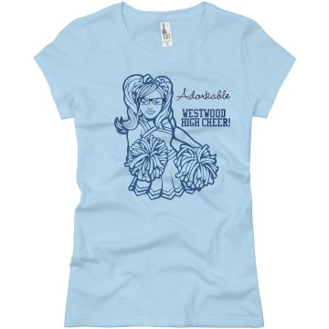 Adorkable Cheer Junior Fit Basic Bella Favorite Tee