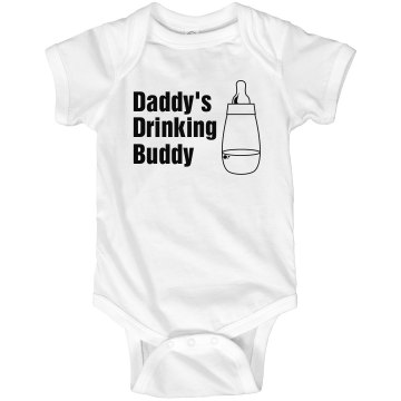 Daddy&#x27;s Drinking Buddy Infant Rabbit Skins Lap Shoulder Creeper