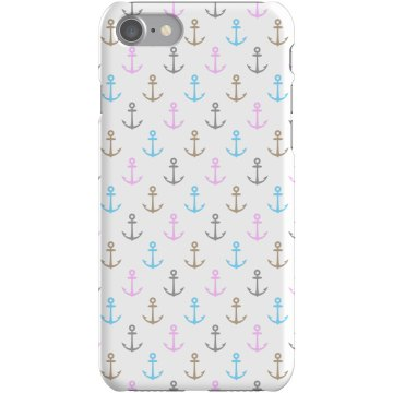 Cute Anchors iPhone Case Plastic iPhone 5 Case White