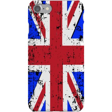 Distressed UK Flag Case Plastic iPhone 5 Case Black