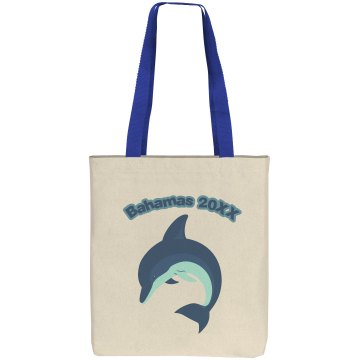 Bahamas Beach Bag Liberty Bags Cotton Canvas Tote