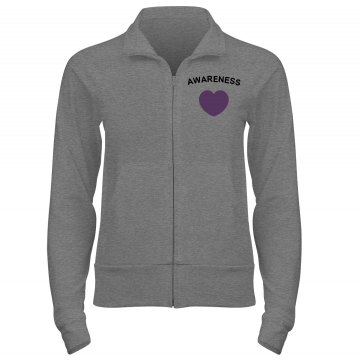 Remember Alzheimers w/ Bk Junior Fit Bella Cadet Zip Track Jacket