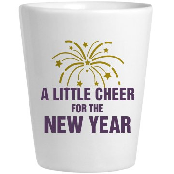 Cheer For The New Year Ceramic Shotglass