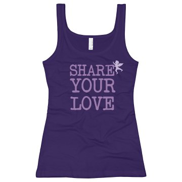 Share Your Love Junior Fit Bella Longer Length 1x1 Rib Tank Top
