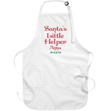 Santa's Christmas Apron Port Authority Adjustable Full Length Apron