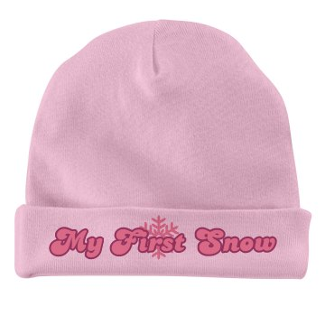 My First Snow Baby Hat Infant American Apparel Baby Hat