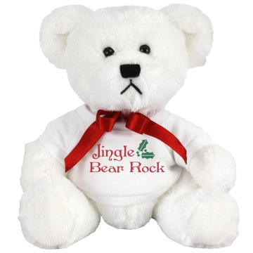 Jingle Bear Rock Medium Plush Teddy Bear