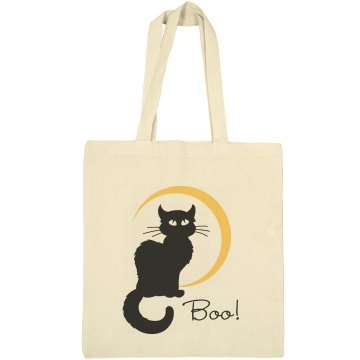 Halloween Cat Bag Liberty Bags Canvas Bargain Tote Bag