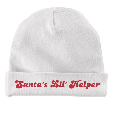 Santa's Little Helper Infant American Apparel Baby Hat