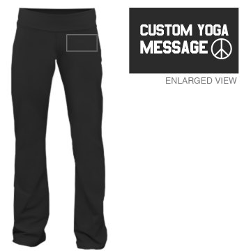 Peace Love Yoga Junior Fit Bella Fitness Pants