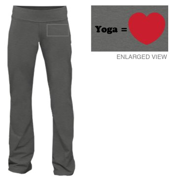 Yoga Equals Love Junior Fit Bella Fitness Pants