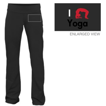 I Love Yoga Junior Fit Bella Fitness Pants