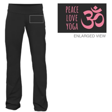 Peace Love Yoga Symbol Junior Fit Bella Fitness Pants