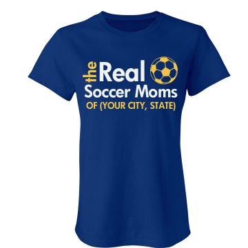The Real Soccer Moms Junior Fit Bella Crewneck Jersey Tee