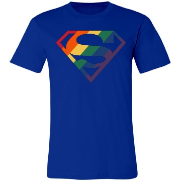 Super Gay Man Unisex Canvas Jersey Tee