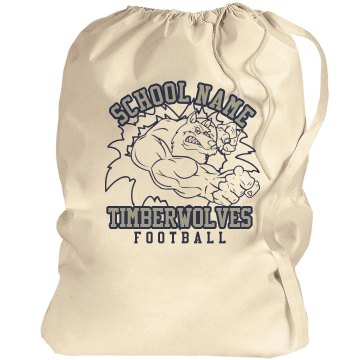 Timberwolves Mascot Bag Port Authority Laundry Bag