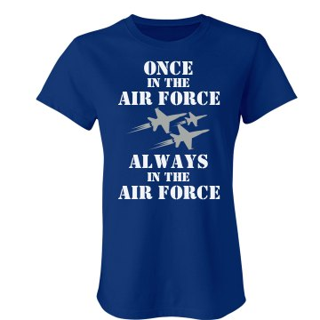 Once a Marine, Always a Junior Fit Bella Crewneck Jersey Tee
