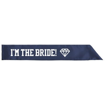 I'm The Bride Rhinestones Adult Satin Party Sash