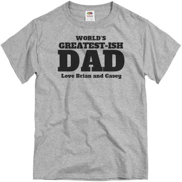 World's Greatest Dad Unisex Canvas V-Neck Jersey Tee