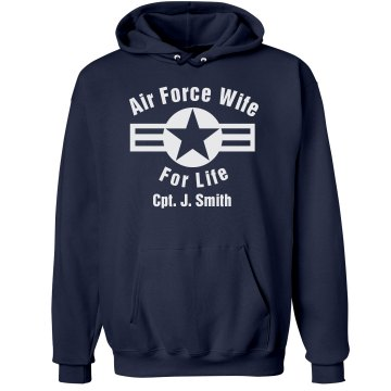 Air Force Wife Unisex Gildan Heavy Blend Hoodie