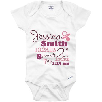 Baby Announcement  Infant Gerber Onesies