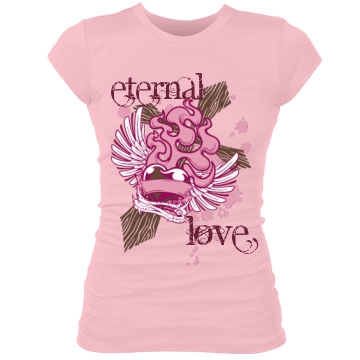 Eternal Love Junior Fit Bella Sheer Longer Length Rib Tee