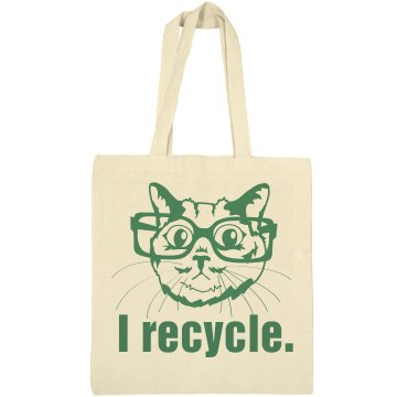 Smart Cats Recycle Liberty Bags Canvas Tote