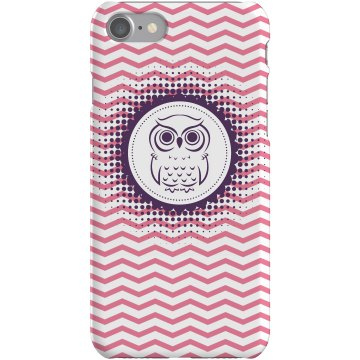 Purple Owl iPhone 5 Case Plastic iPhone 5 Case Black