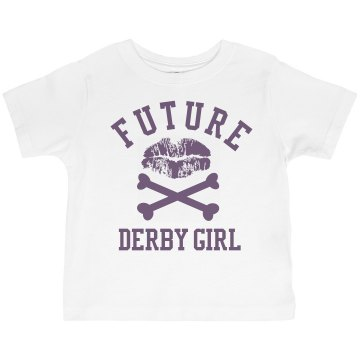 Future Derby Girl Toddler Basic Gildan Ultra Cotton Crew Neck Tee