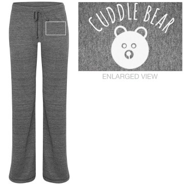 Cuddle Bear Jamma Pants Junior Fit Bella Straight Leg Fleece Sweatpant