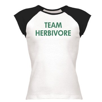 Team Herbivore Junior Fit Bella 1x1 Rib Ringer Tee