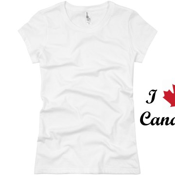 I Love Canada Junior Fit Basic Bella Favorite Tee