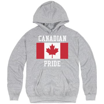 Canadian Pride Hoodie Unisex Hanes Ultimate Cotton Heavyweight Hoodie