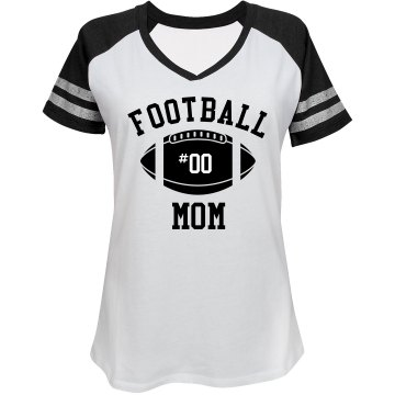 Rhinestone Football Mom Misses Relaxed Fit Bella Missy V-Neck Tee