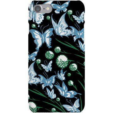 Blue Butterflies Case Plastic iPhone 5 Case Black
