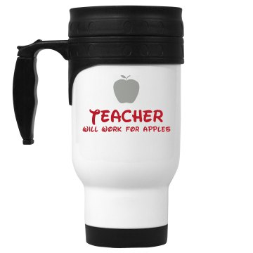 Work For Apples Travel  14oz White Stainless Steel Travel Mug