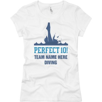 Diving Team Tee Junior Fit Basic Bella Favorite Tee