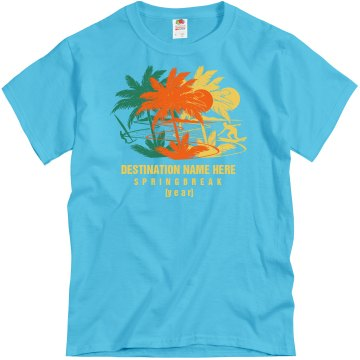 Spring Break 2013 Tee Unisex Gildan Heavy Cotton Crew Neck Tee