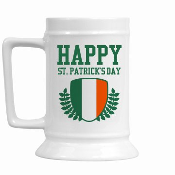 Happy St. Patrick's Stein 16oz Ceramic Stein