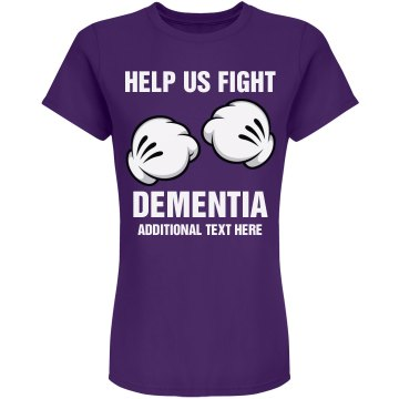 Fight Dementia Junior Fit Bella 1x1 Rib V-Neck Tee