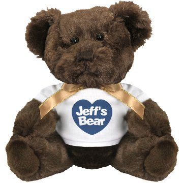 Gay Rights Jeff's Bear Medium Plush Teddy Bear