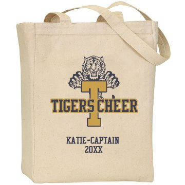 Tigers Cheer Tote Bag Liberty Bags Canvas Tote