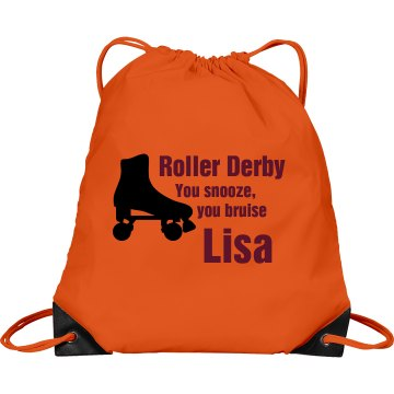Roller Derby Bag Port & Company Drawstring Cinch Bag