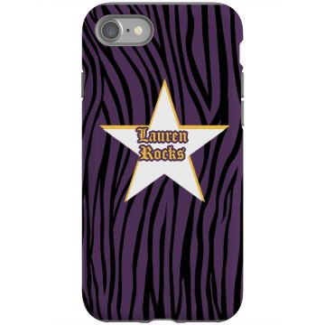 Zebra Destressed iPhone Rubber iPhone 4 & 4S Case Black