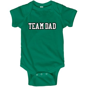 Team Dad Tee Infant Rabbit Skins Lap Shoulder Creeper