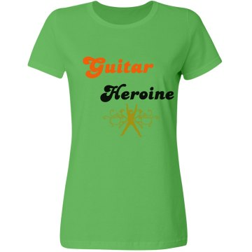 Guitar Heroine Misses Relaxed Fit Gildan Heavy Cotton Tee