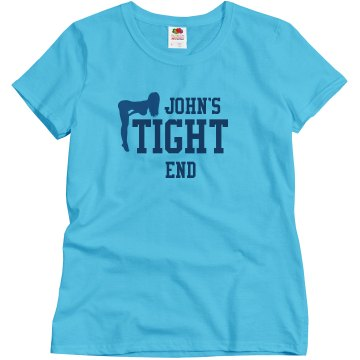 John's Tight End Misses Relaxed Fit Basic Gildan Ultra Cotton Tee