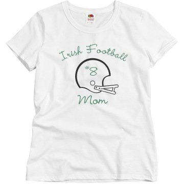Irish Football Mom Misses Relaxed Fit Basic Gildan Ultra Cotton Tee