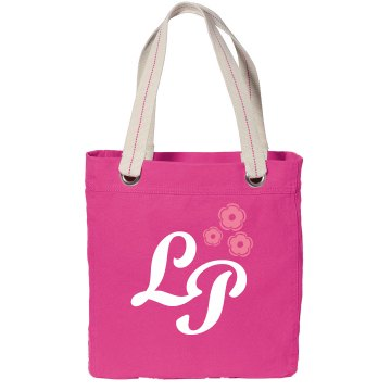 Initials Custom Tote Port Authority Color Canvas Tote