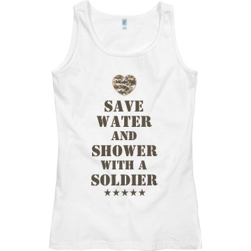 Shower With a Marine Junior Fit Bella Sheer Longer Length Rib Tee